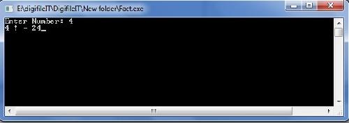 محاسبه فاكتوريل با زبان ++C